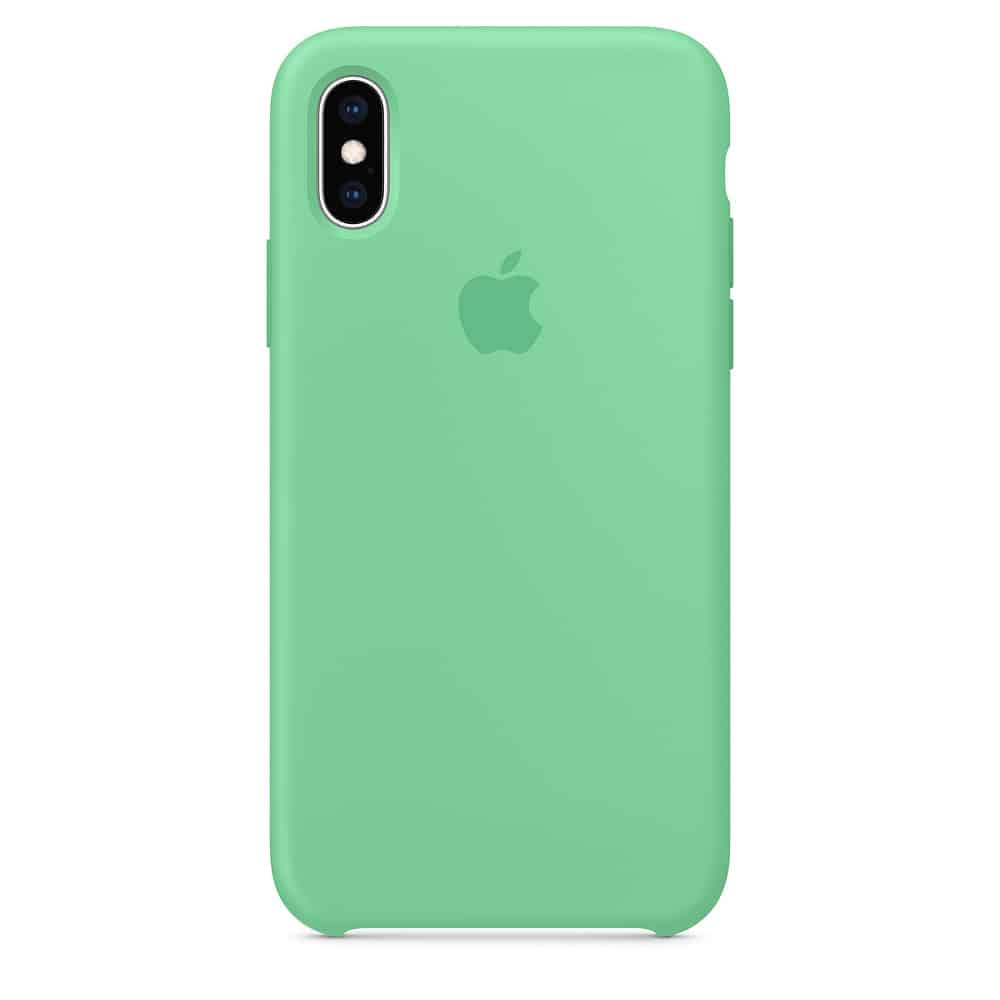 Apple silikónový obal pre iPhone XS - mätový 1