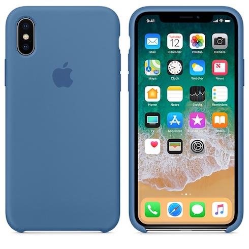 Apple silikónový obal pre iPhone XS – džínsovo modrý 3