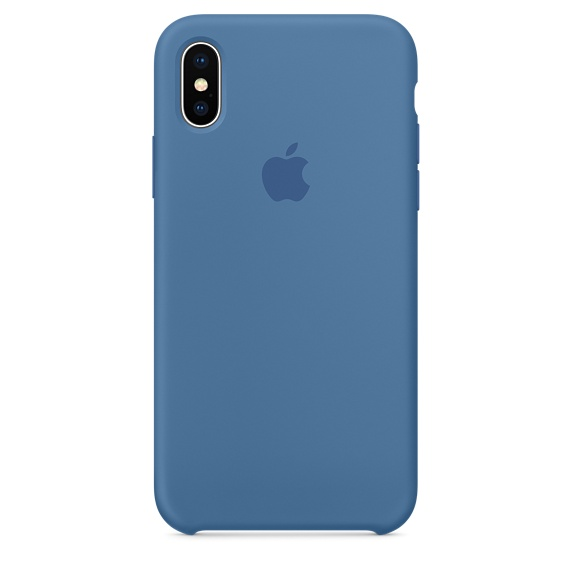 Apple silikónový obal pre iPhone XS – džínsovo modrý 1