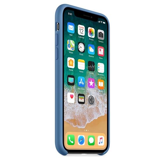 Apple silikónový obal pre iPhone XS – džínsovo modrý 2