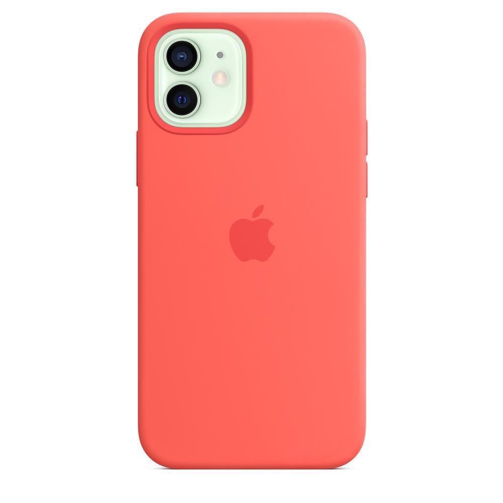 Apple silikónový obal pre iPhone 12/12 Pro – citrusovo ružový s MagSafe 1