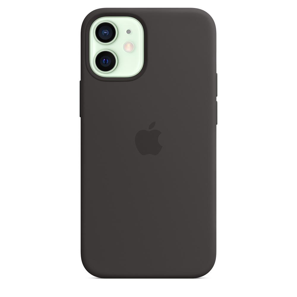Apple silikónový obal pre iPhone 12 mini – čierny s MagSafe 1