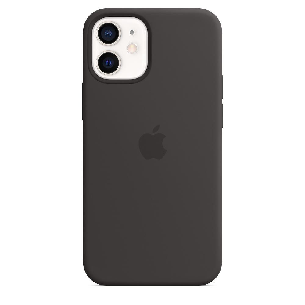 Apple silikónový obal pre iPhone 12 mini – čierny s MagSafe 4