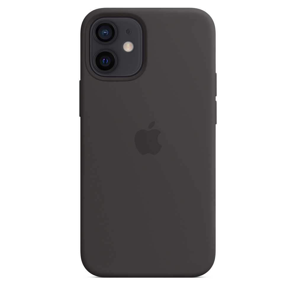Apple silikónový obal pre iPhone 12 mini – čierny s MagSafe 3