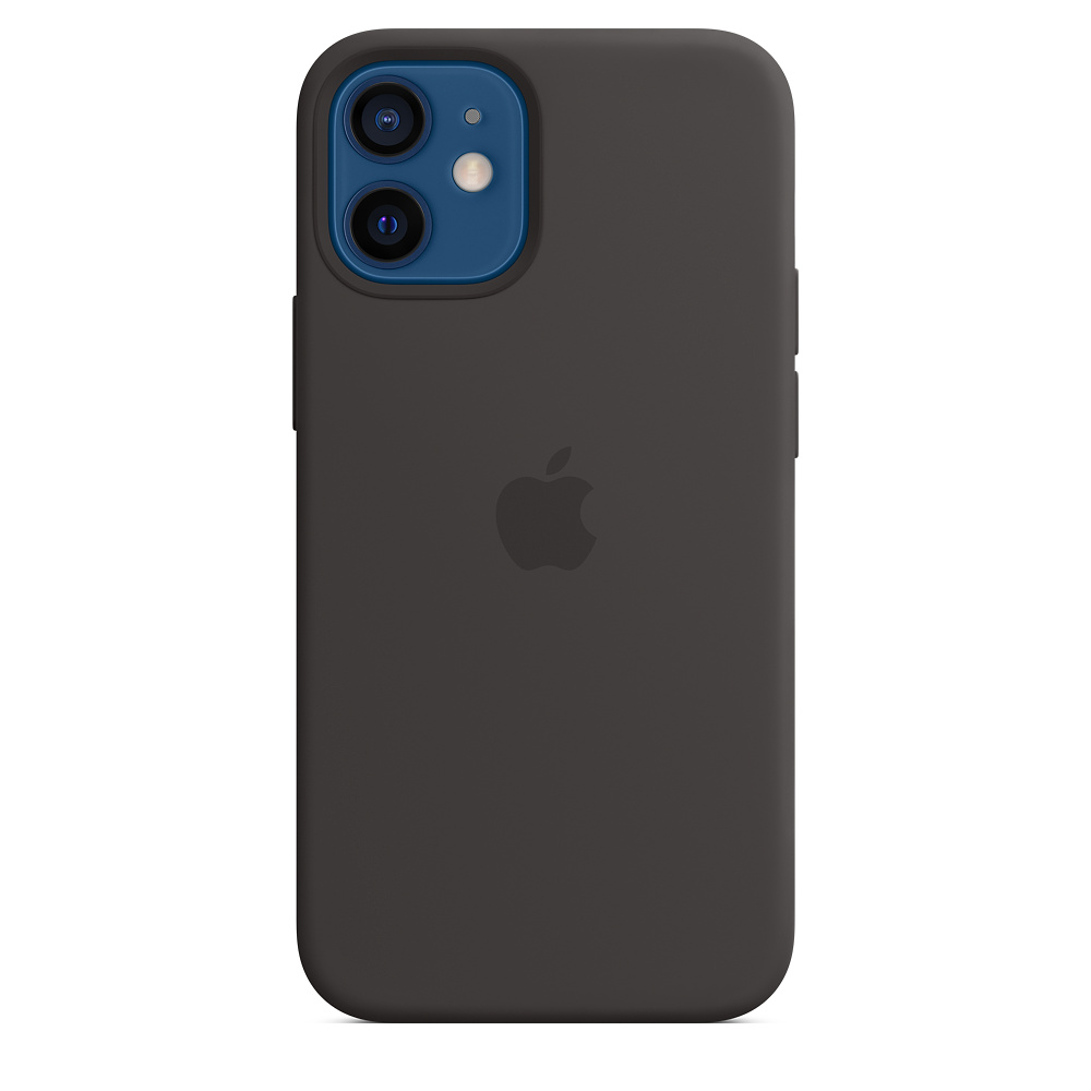 Apple silikónový obal pre iPhone 12 mini – čierny s MagSafe 2