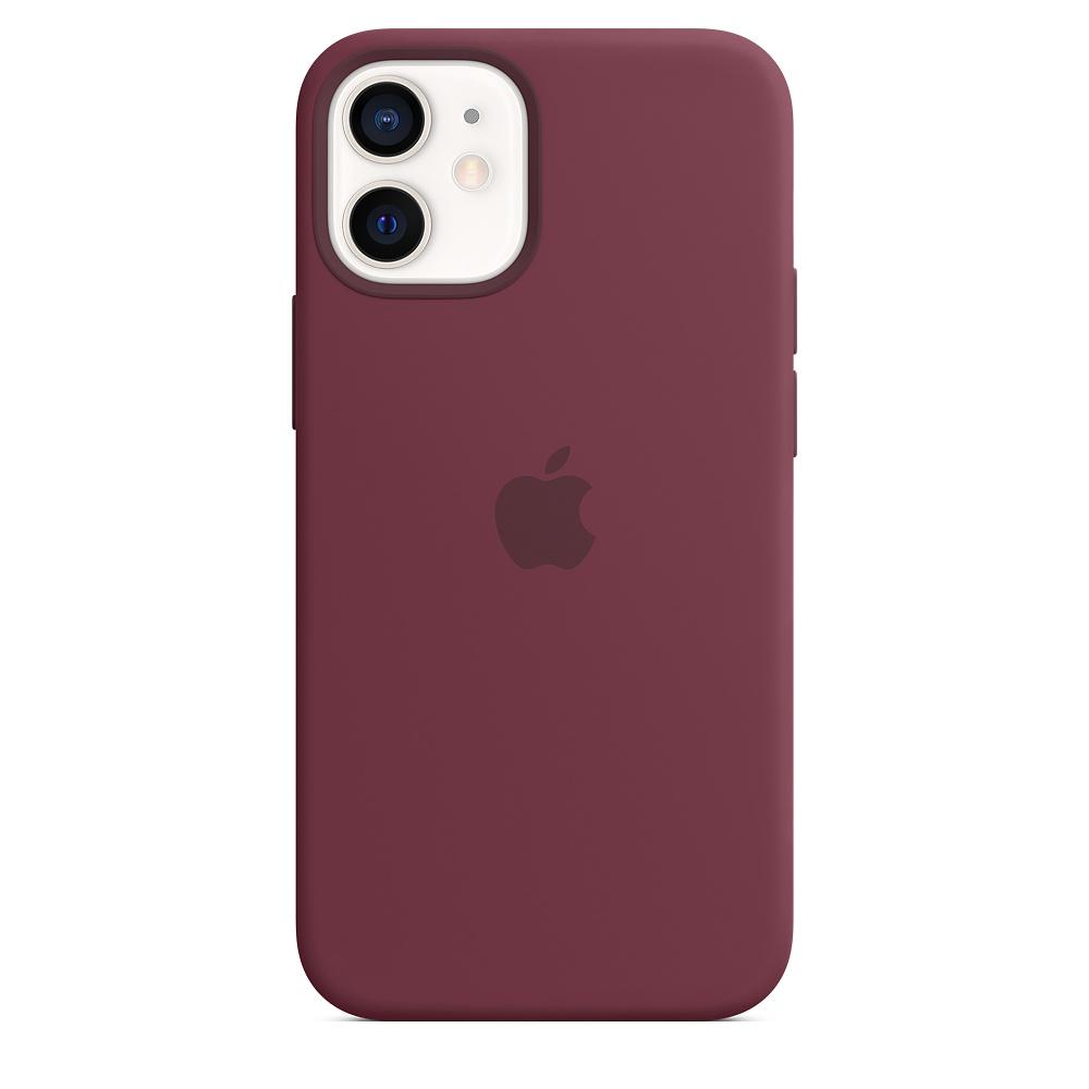 Apple silikónový obal pre iPhone 12 mini – slivkový s MagSafe 4