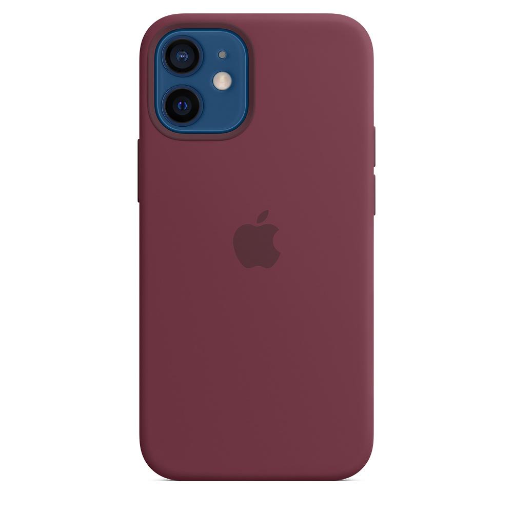 Apple silikónový obal pre iPhone 12 mini – slivkový s MagSafe 2