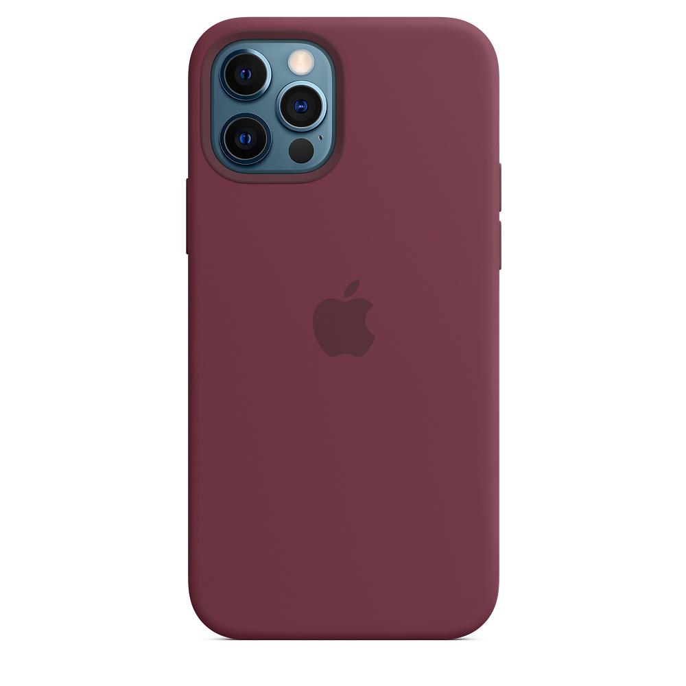 Apple silikónový obal pre iPhone 12/12 Pro – slivkový s MagSafe 3