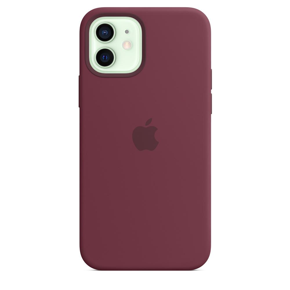 Apple silikónový obal pre iPhone 12/12 Pro – slivkový s MagSafe 1