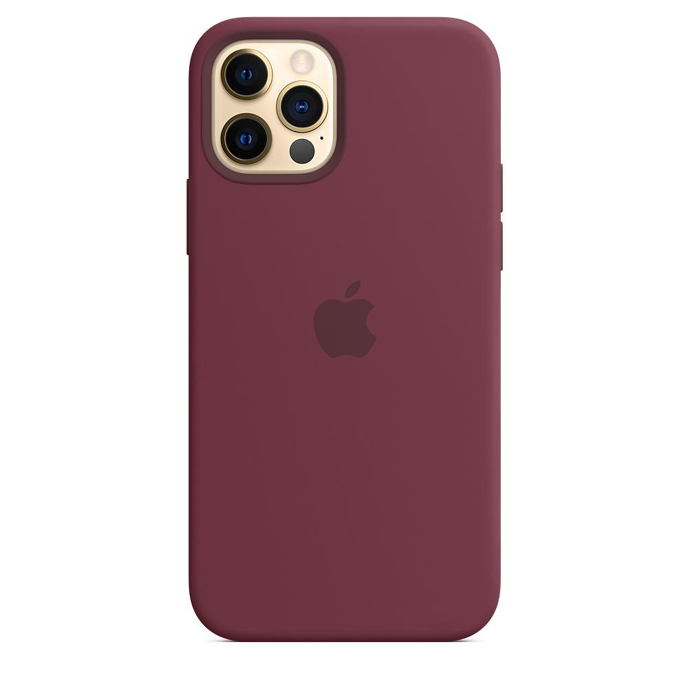 Apple silikónový obal pre iPhone 12/12 Pro – slivkový s MagSafe 2