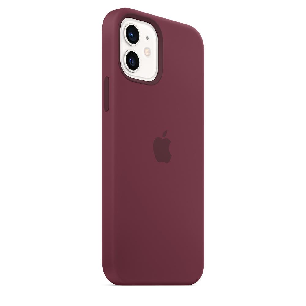 Apple silikónový obal pre iPhone 12/12 Pro – slivkový s MagSafe 5