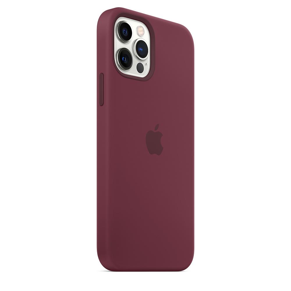 Apple silikónový obal pre iPhone 12/12 Pro – slivkový s MagSafe 4