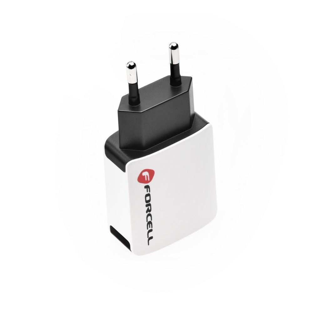 Cestovná nabíjačka Forcell 2A s 2x USB zásuvkou 3