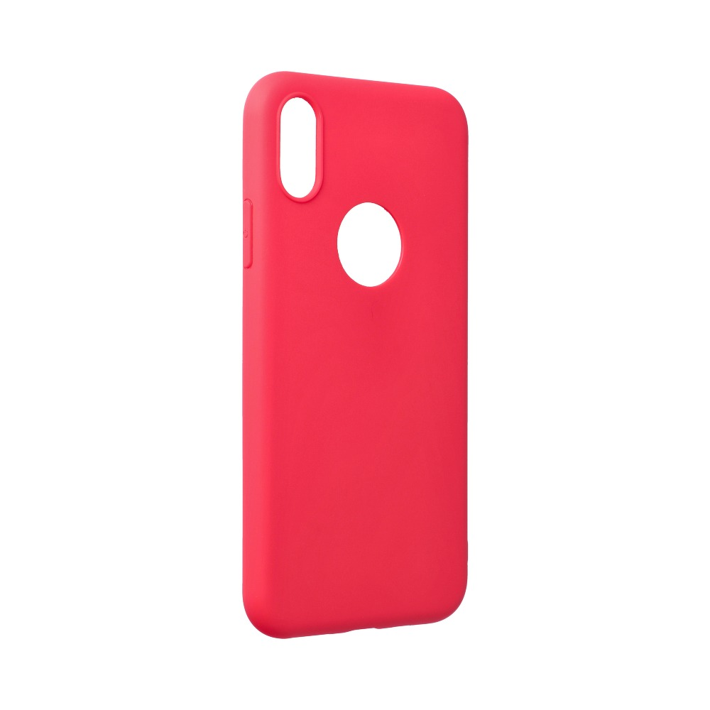 Forcell SOFT silikónový obal pre iPhone XS Max červený 1