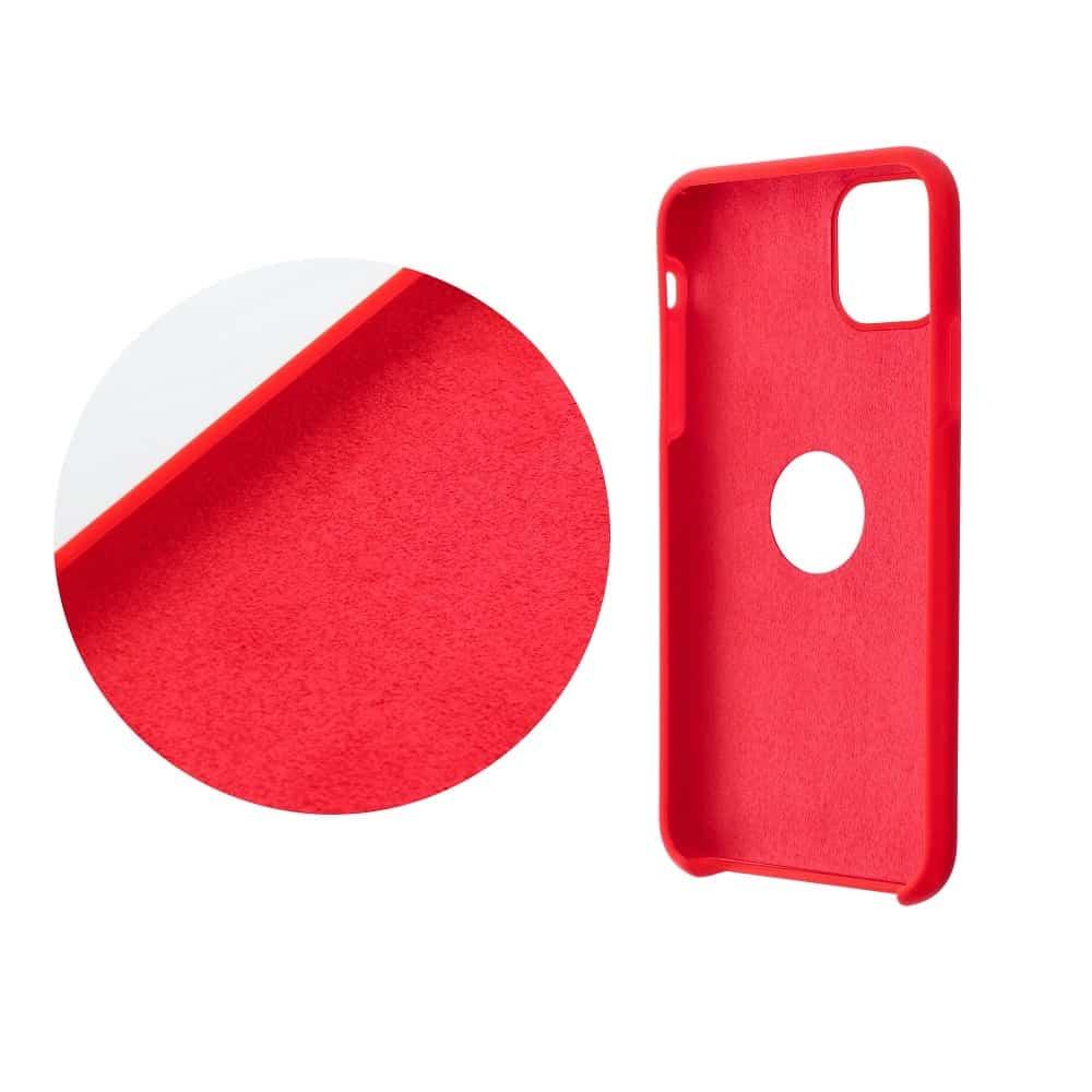 Forcell silikónový obal pre iPhone 7/8 červený (s otvorom na logo) 2