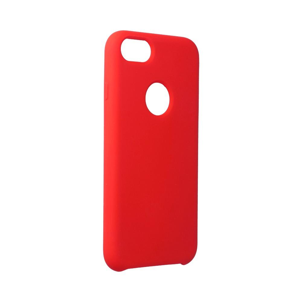 Forcell silikónový obal pre iPhone 7/8 červený (s otvorom na logo) 1
