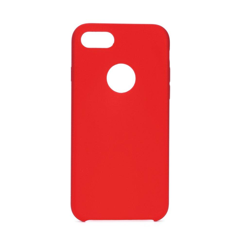 Forcell silikónový obal pre iPhone 7/8 červený (s otvorom na logo) 3