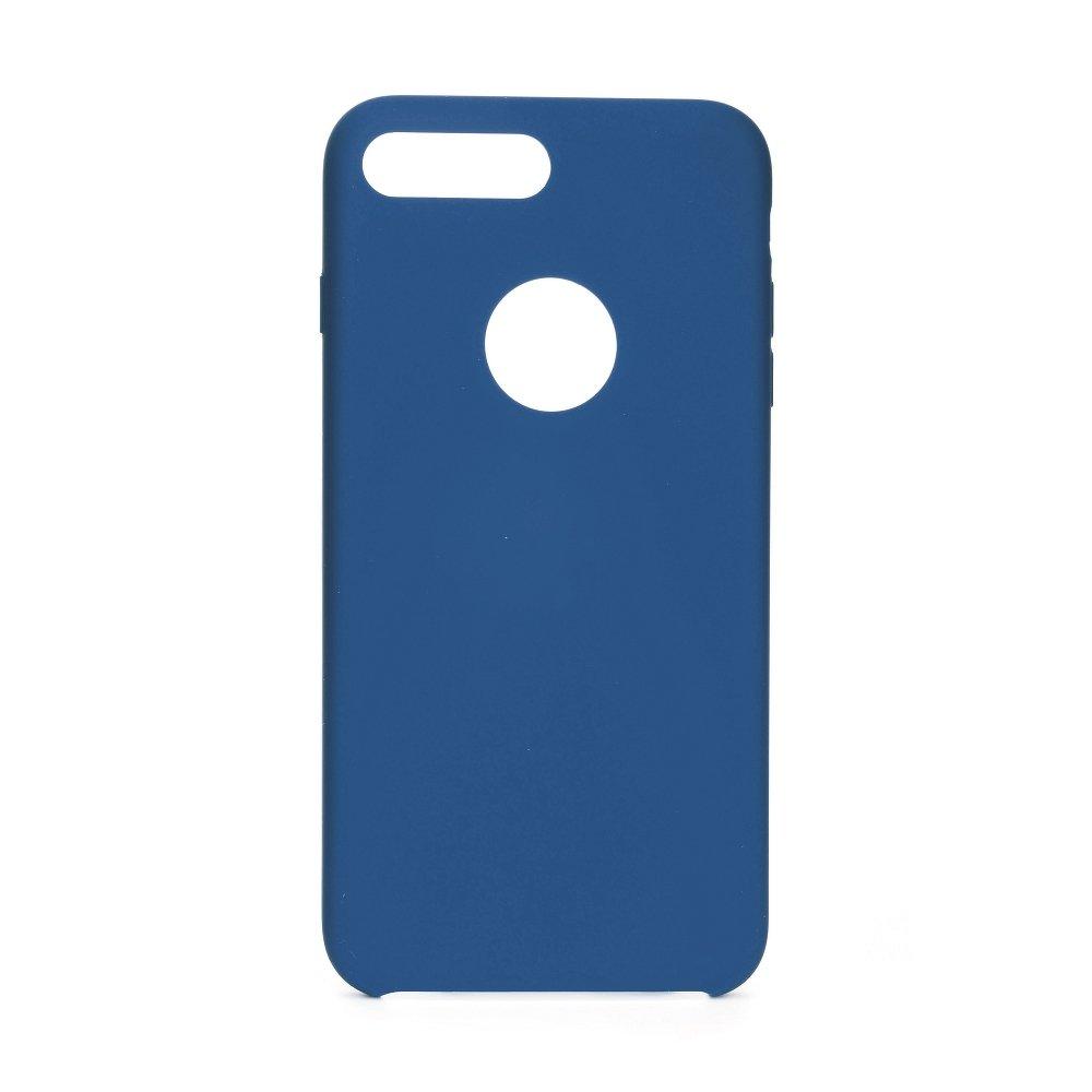 Forcell silikónový obal pre iPhone 7 Plus / 8 Plus modrý (s otvorom na logo) 1