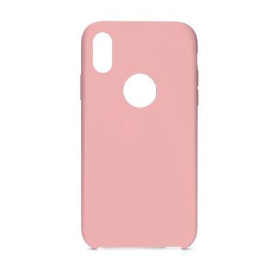 Forcell silikónový obal pre iPhone XR ružový (s otvorom na logo) 1
