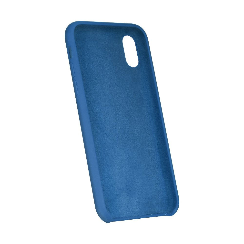 Forcell silikónový obal pre iPhone XR s modrý (s otvorom na logo) 2