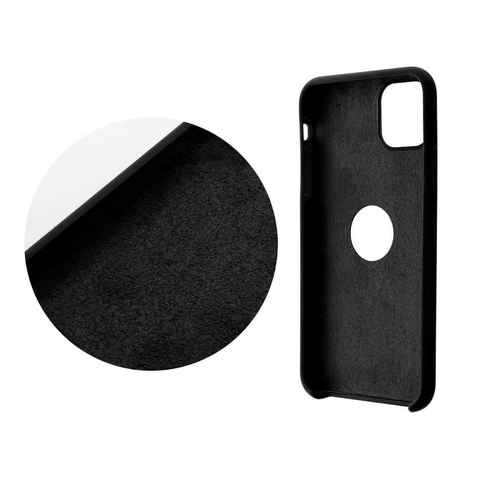 Forcell silikónový obal pre iPhone X/XS čierny (s otvorom na logo) 2