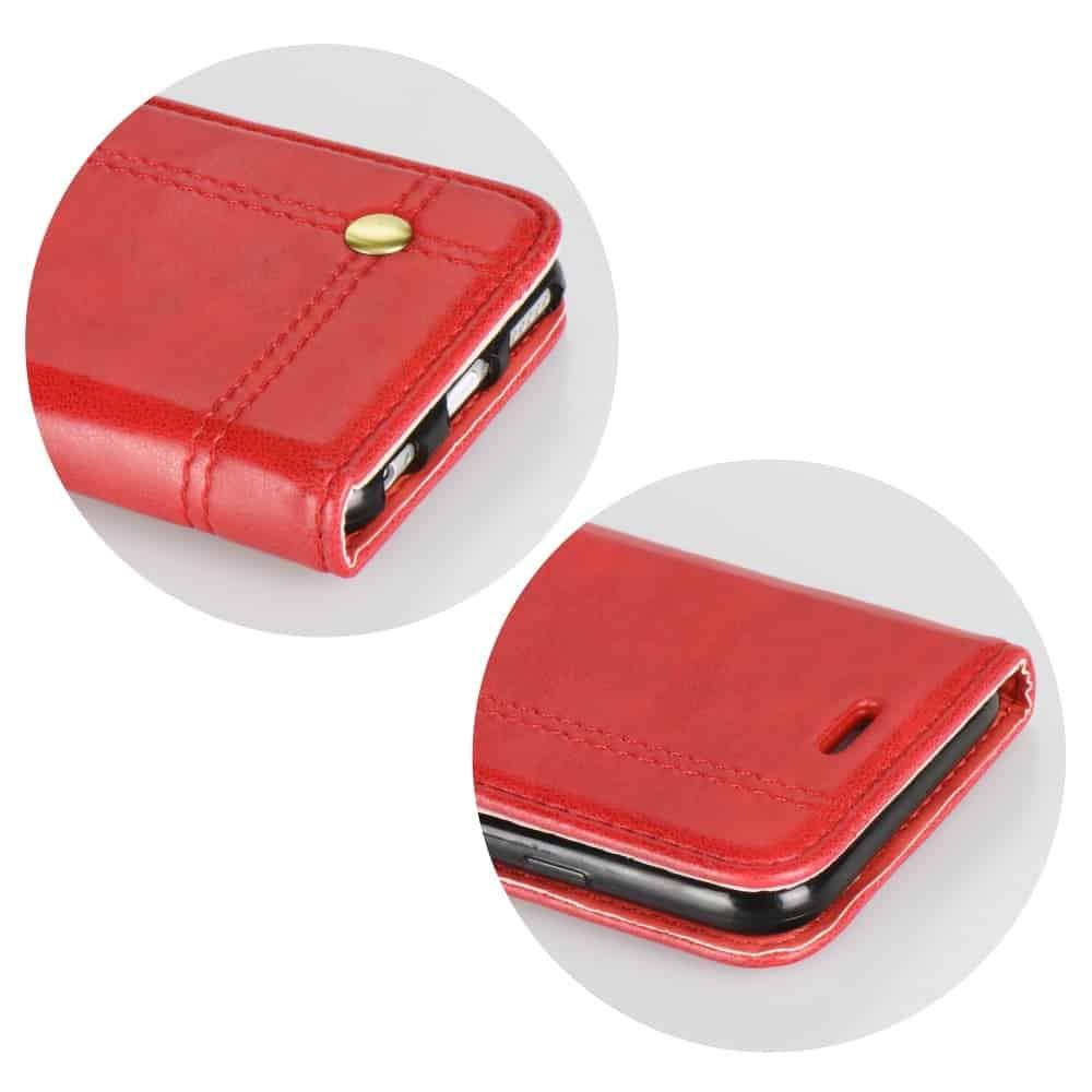 Knižkový obal PRESTIGE - iPhone XS Max červený 3
