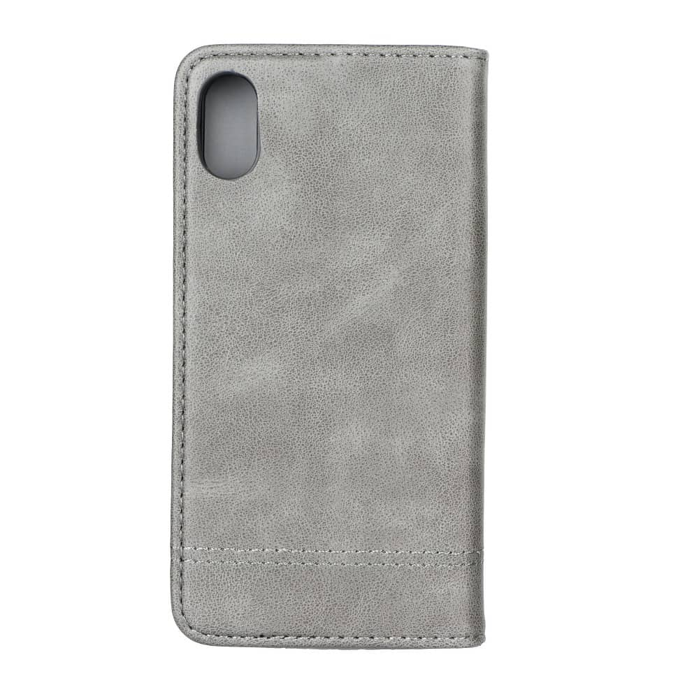 Knižkový obal PRESTIGE - iPhone X/XS šedý 4