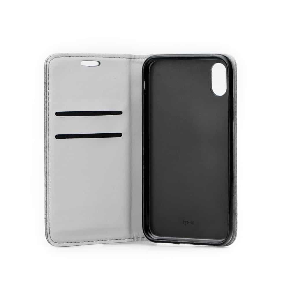 Knižkový obal PRESTIGE - iPhone X/XS šedý 3