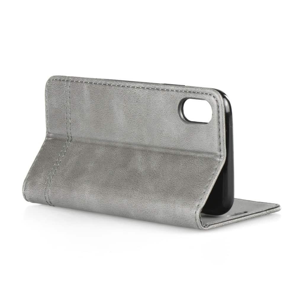 Knižkový obal PRESTIGE - iPhone X/XS šedý 2