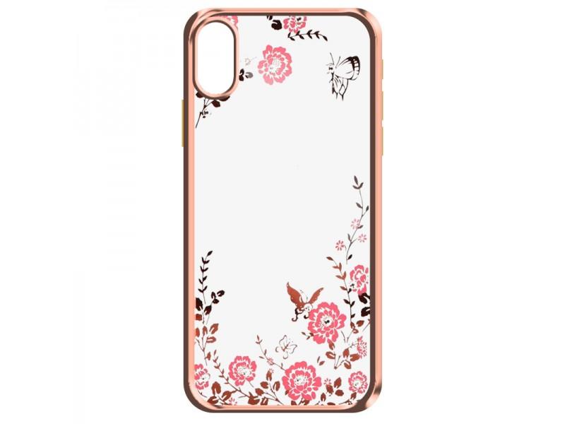 Obal Forcell Diamond pre iPhone XS Max ružovo-zlatý 1