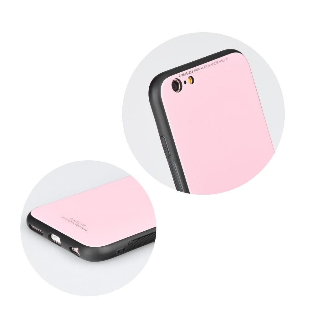 SKLENENÝ obal Forcell pre iPhone XR ružový 2