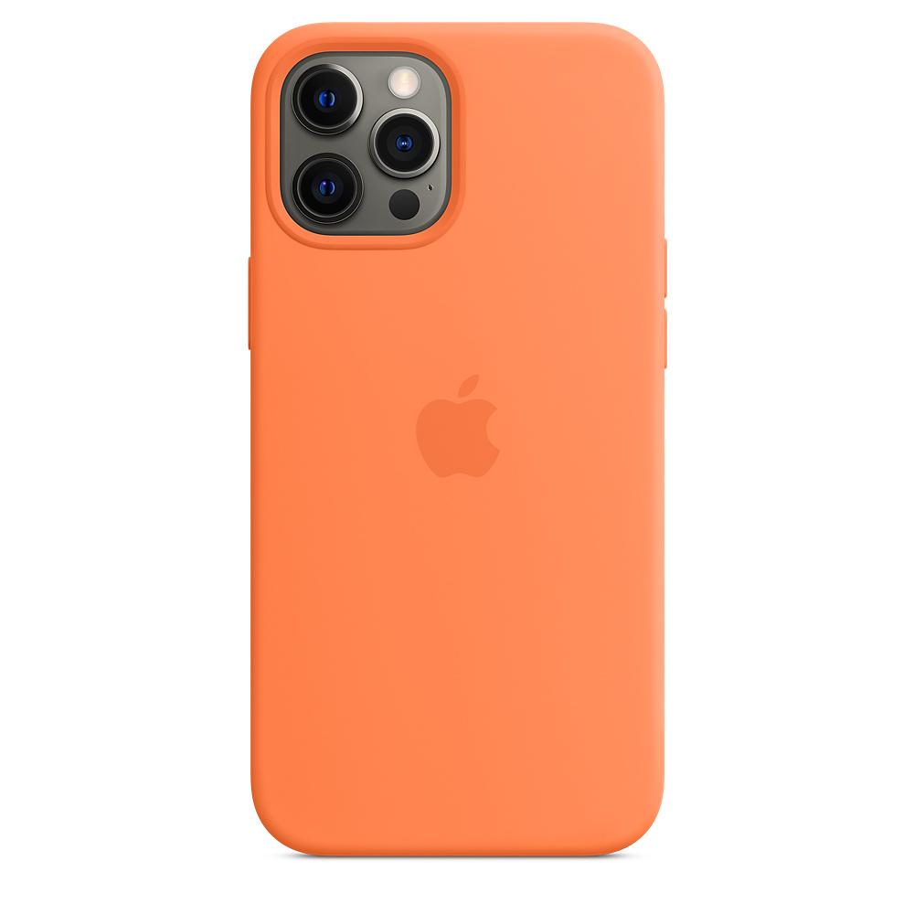 Apple silikónový obal pre iPhone 12 Pro Max – citrusovo ružový s MagSafe 4