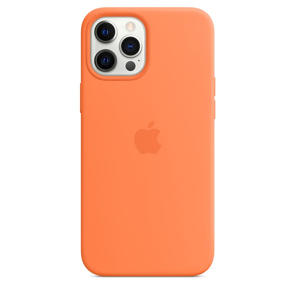 Apple silikónový obal pre iPhone 12 Pro Max – citrusovo ružový s MagSafe 1