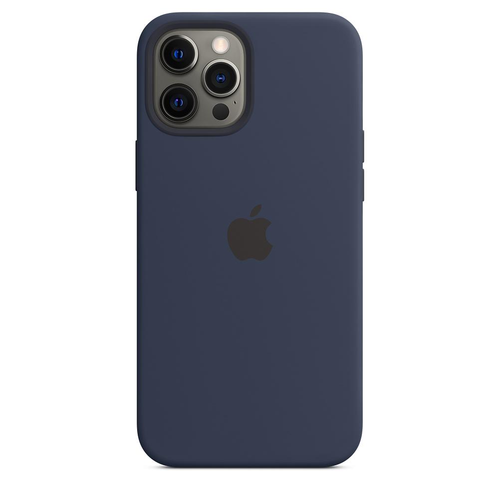 Apple silikónový obal pre iPhone 12 Pro Max – námornícky tmavomodrý 3