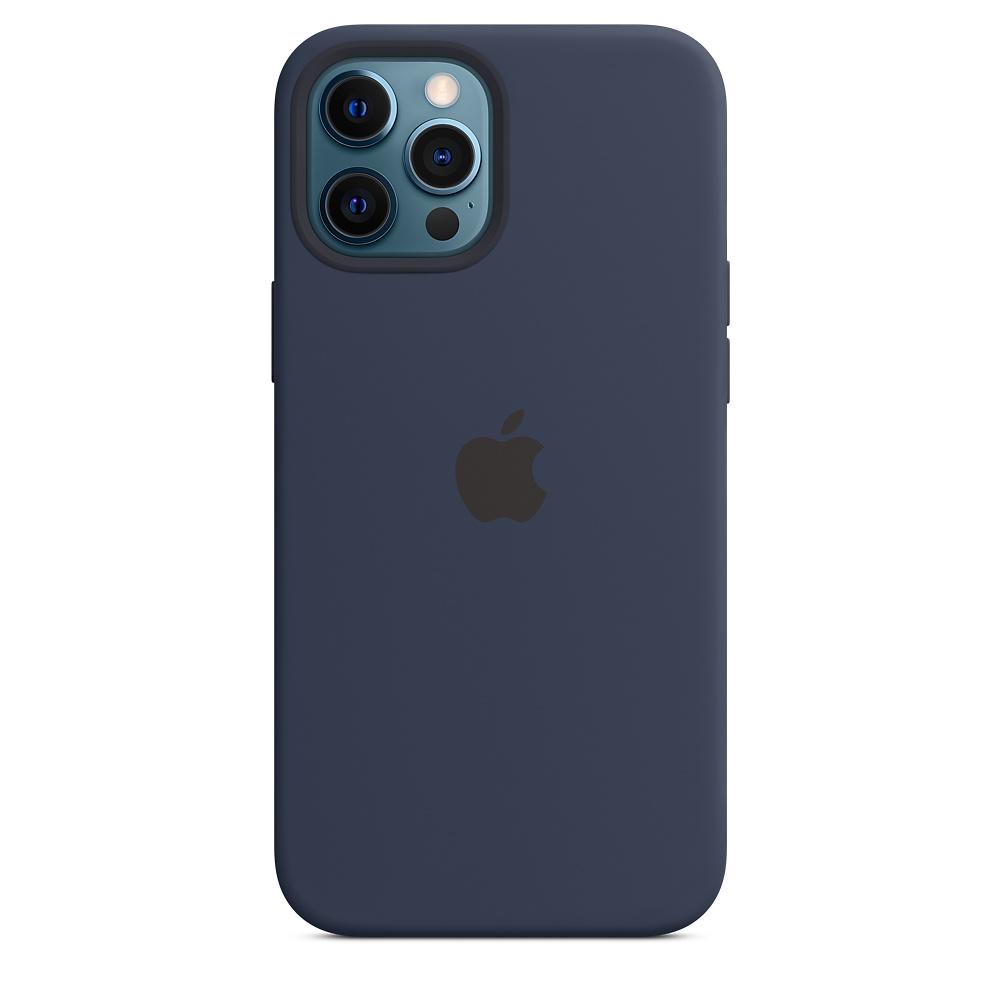 Apple silikónový obal pre iPhone 12 Pro Max – námornícky tmavomodrý 2