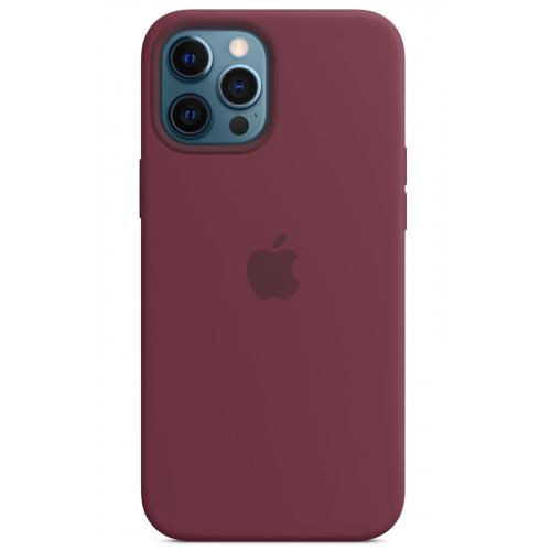 Apple silikónový obal pre iPhone 12 Pro Max – slivkový s MagSafe 4