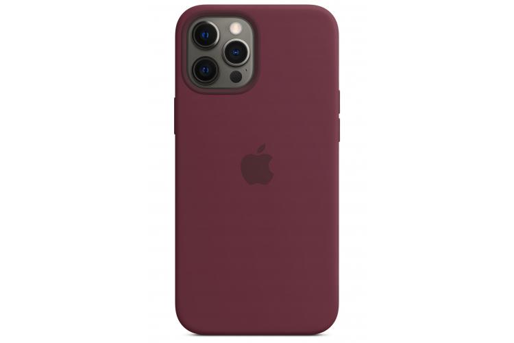 Apple silikónový obal pre iPhone 12 Pro Max – slivkový s MagSafe 3