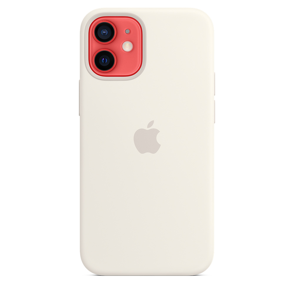 Apple silikónový obal pre iPhone 12 mini – biely s MagSafe 2