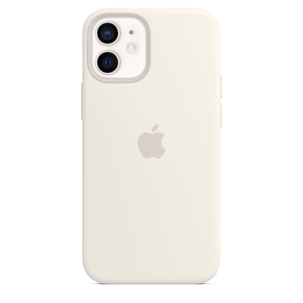 Apple silikónový obal pre iPhone 12 mini – biely s MagSafe 3