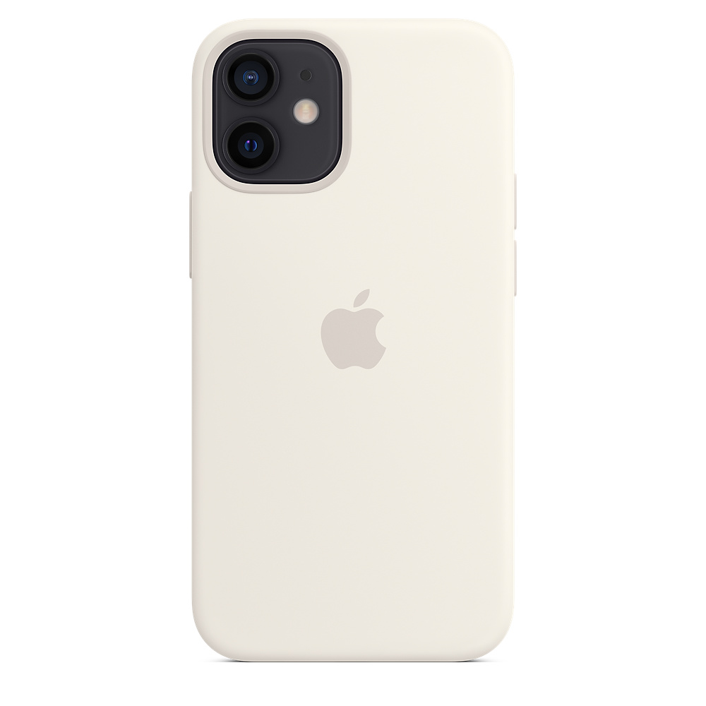 Apple silikónový obal pre iPhone 12 mini – biely s MagSafe 4