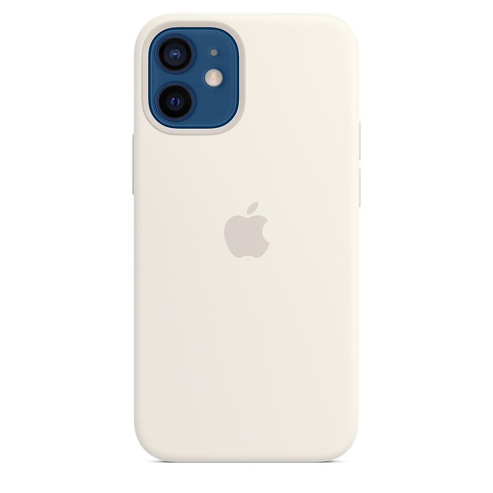 Apple silikónový obal pre iPhone 12 mini – biely s MagSafe 5