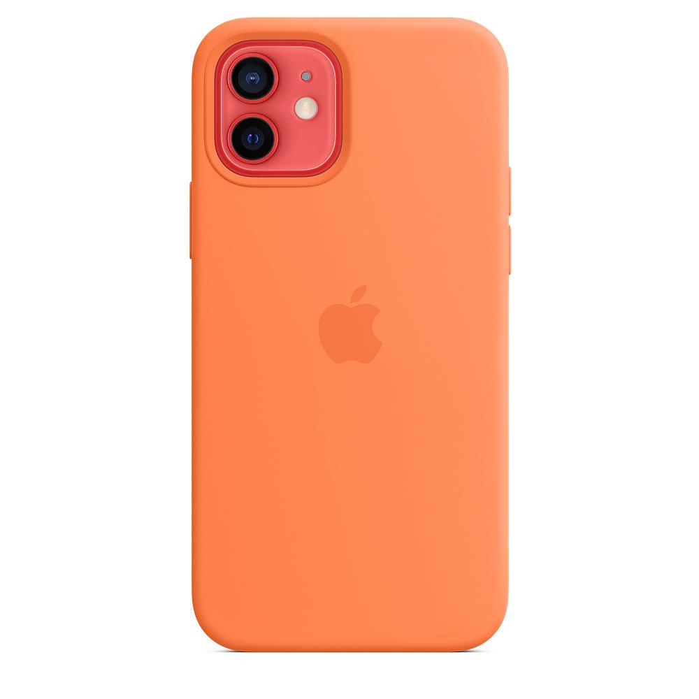 Apple silikónový obal pre iPhone 12/12 Pro – kumquatovo oranžový 2