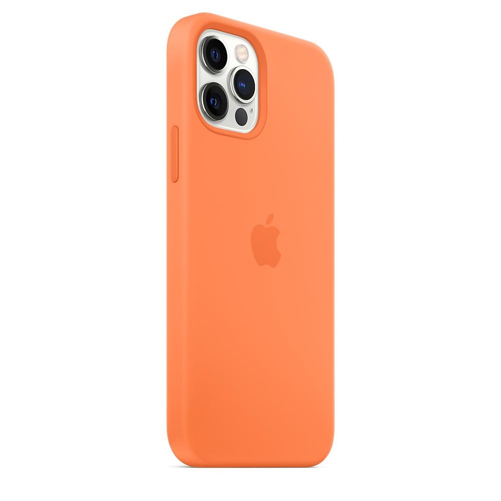 Apple silikónový obal pre iPhone 12/12 Pro – kumquatovo oranžový 5