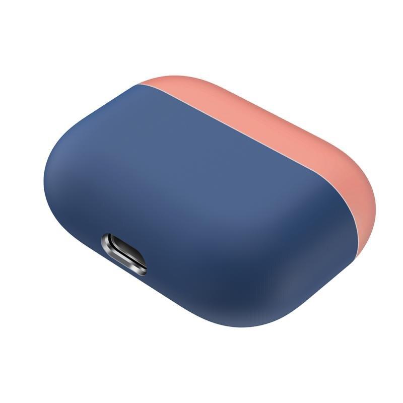 Silikónový obal pre Apple Airpods Pro - lososovo-modrý 1