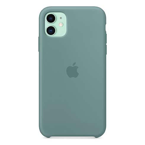 Apple silikónový obal pre iPhone 11 – kaktusovo zelený 1