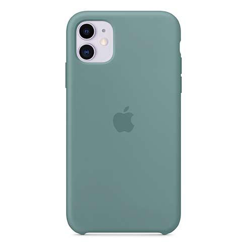 Apple silikónový obal pre iPhone 11 – kaktusovo zelený 4