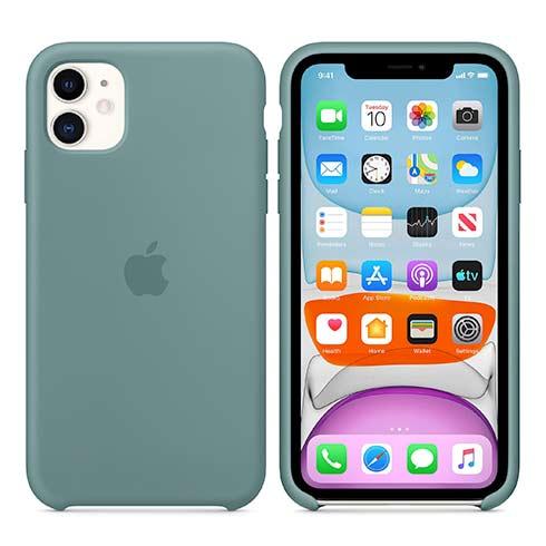 Apple silikónový obal pre iPhone 11 – kaktusovo zelený 5