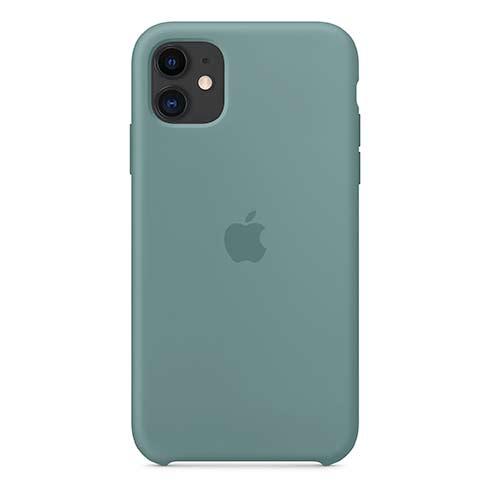 Apple silikónový obal pre iPhone 11 – kaktusovo zelený 3