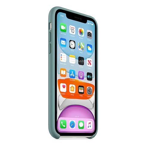 Apple silikónový obal pre iPhone 11 – kaktusovo zelený 2