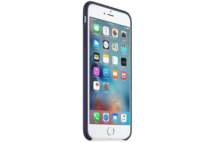 Apple silikónový obal pre iPhone 6 / 6S – polnočne modrý 2